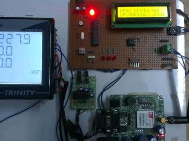 RS-485 & G.P.R.S. Energy Meter Data Logger
