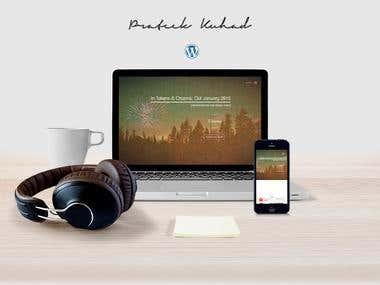 Responsive Wordpress Powered Website (Artist/Music)