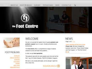 SEO Project - URL - www.footcentre.co.nz