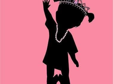 Baby girl shop logo design