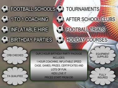 Flyer design for Cornwall Footie