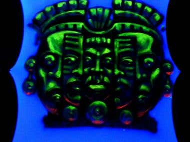 Fluo paintings Masks