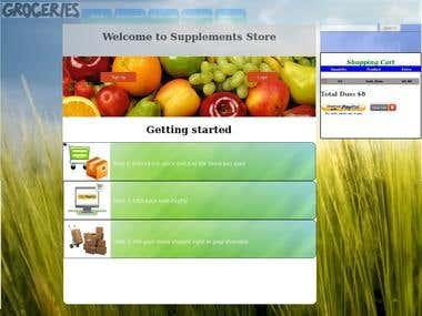 Supplements/Groceries store