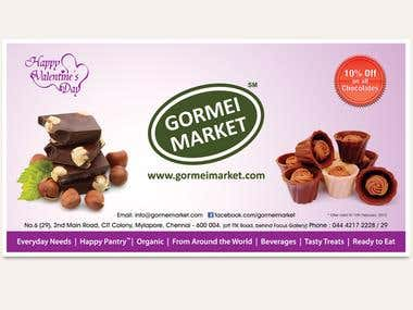 Banner Design for Gormi Market