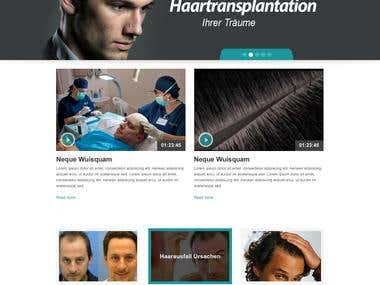 Corporate Medicalhaircenter Website Design and Realization