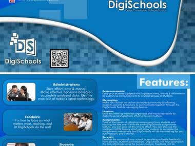 Brochure design for Digi Schools