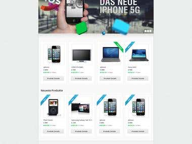 ZDP German Ecommerce Shop Website-Design and Realization