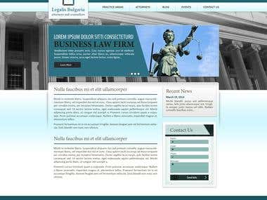 Legalis.BG Corporate Lawfirm Website Design and Realization