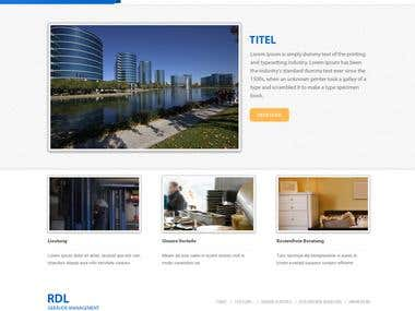 Facility Management Website- Design and Realization
