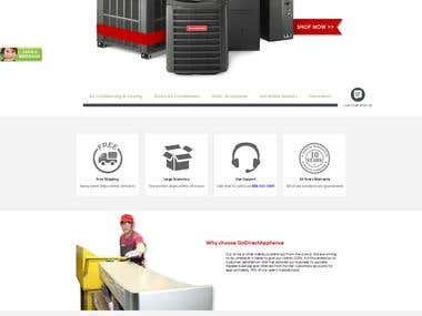 Go Direct Appliance - Landing Page (PSD to Html)
