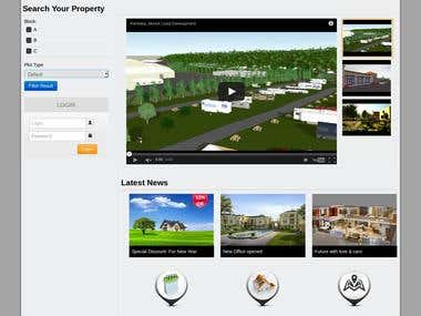 Complete Dynamic web site for  Realestate