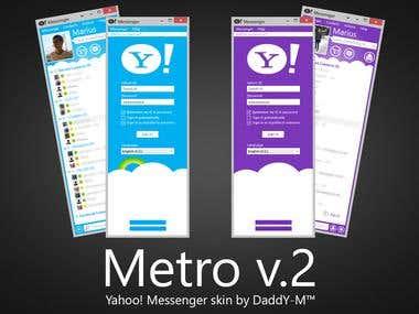 Metro Yahoo! Messenger skin