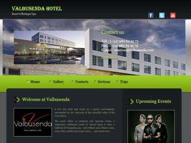 website sobre un hotel