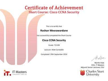 CCNA -Security short course