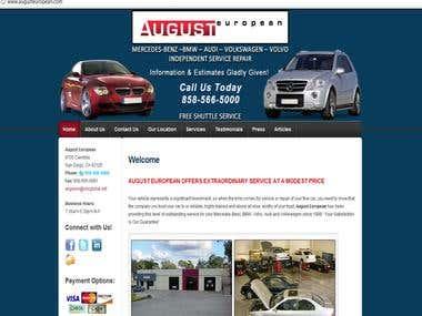 August European WordPress Site