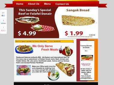 A Restaurant Website