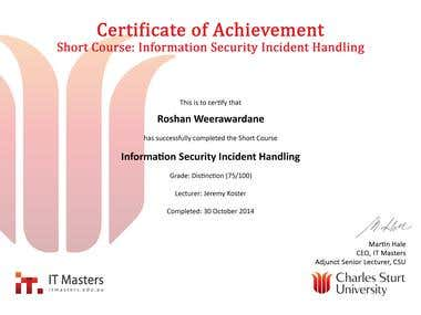 Information security incident handling