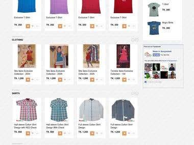An eCommer website