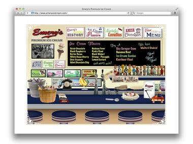 Emery's Ice Cream Flash Website