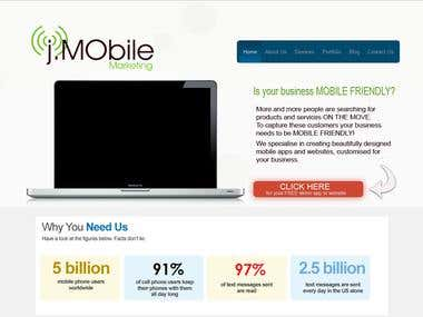 Mobile marketing Website