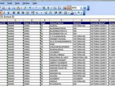 my data sheet