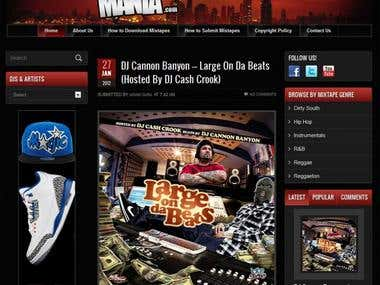 MixtapeMania.com - Free Mixtape Download Website