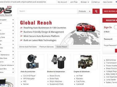 B2B e-Commerce Marketplace for Autos
