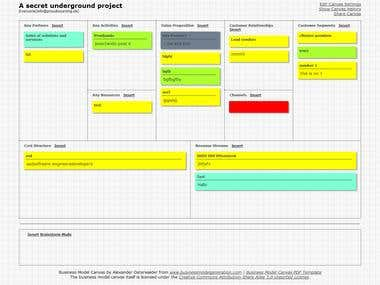 Canvanizer - Collaborating business modelling tool