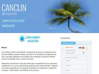 Web develep cancunbestvacation.com