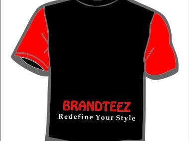 T-shirt company logo