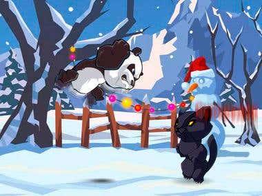 Developing flash applications - game Crouching Panda