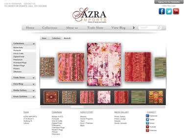 Web layout for Azra Imports (Option no.1)