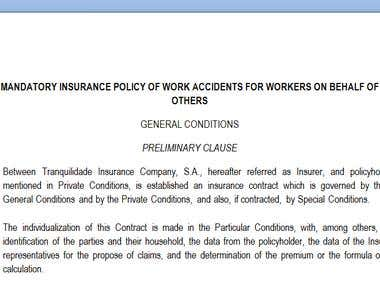 Last Transleted Document - Insurance Policy