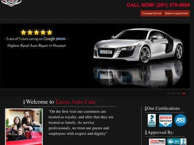 Lucas Auto Care Website