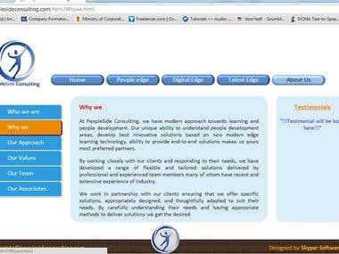 People Side Consulting website developed by Skypar Software