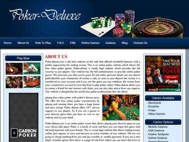 A casino website
