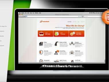 Corporate site design for IT company