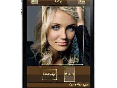 iPhone app Scetch photo