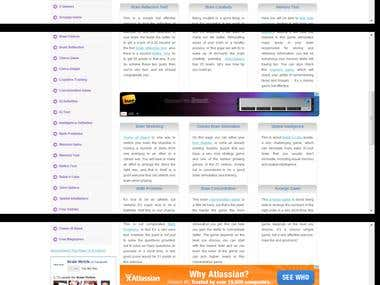 brain training site in Word Press