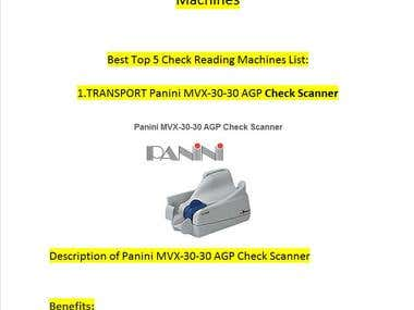 Web research About Top best Check Reading Machines