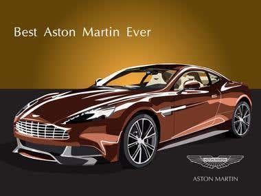 Publicidad Aston Martin (trabajo como fanático)