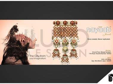 This is brochure design for jewelry.