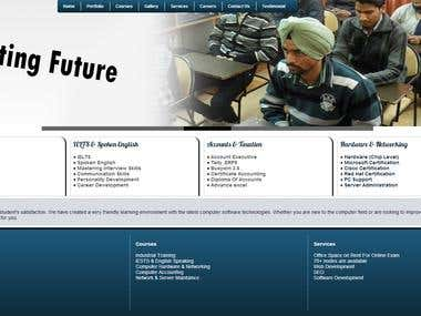 Website for coaching Institute