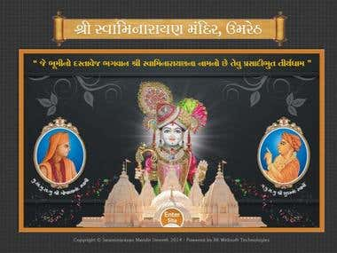 Web SIte For Swaminarayan Temple