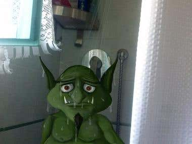 Goblin in the shower