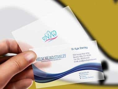 Business card designed for Dr. Stanley