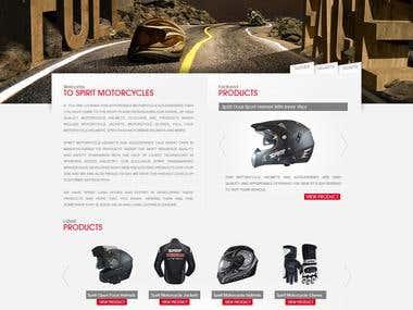 E-commerce Motor Accessories Website