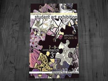 Marietta College Art Department Promotional Posters