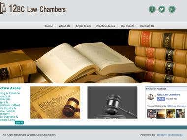 Wordpress website for a law firm