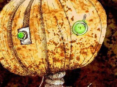 Pumpkin Girl illustration